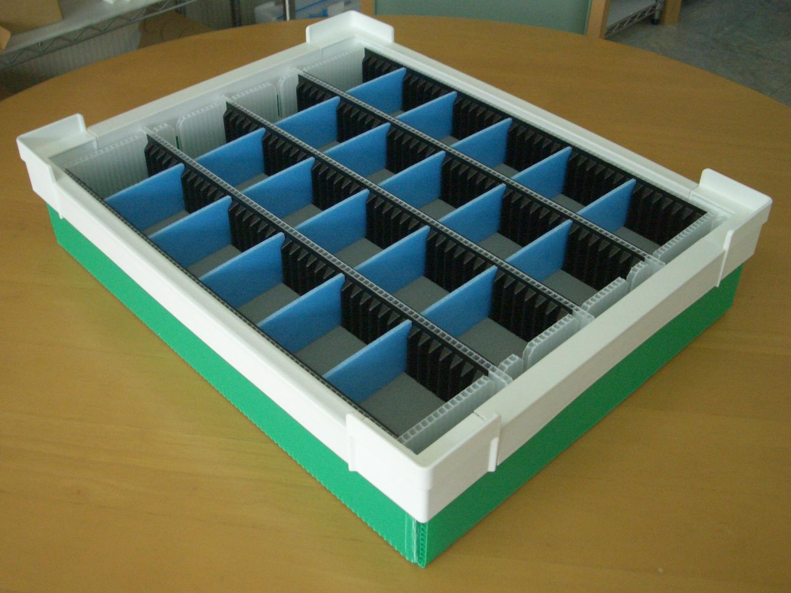 「製造部可変仕切り通い箱」の画像