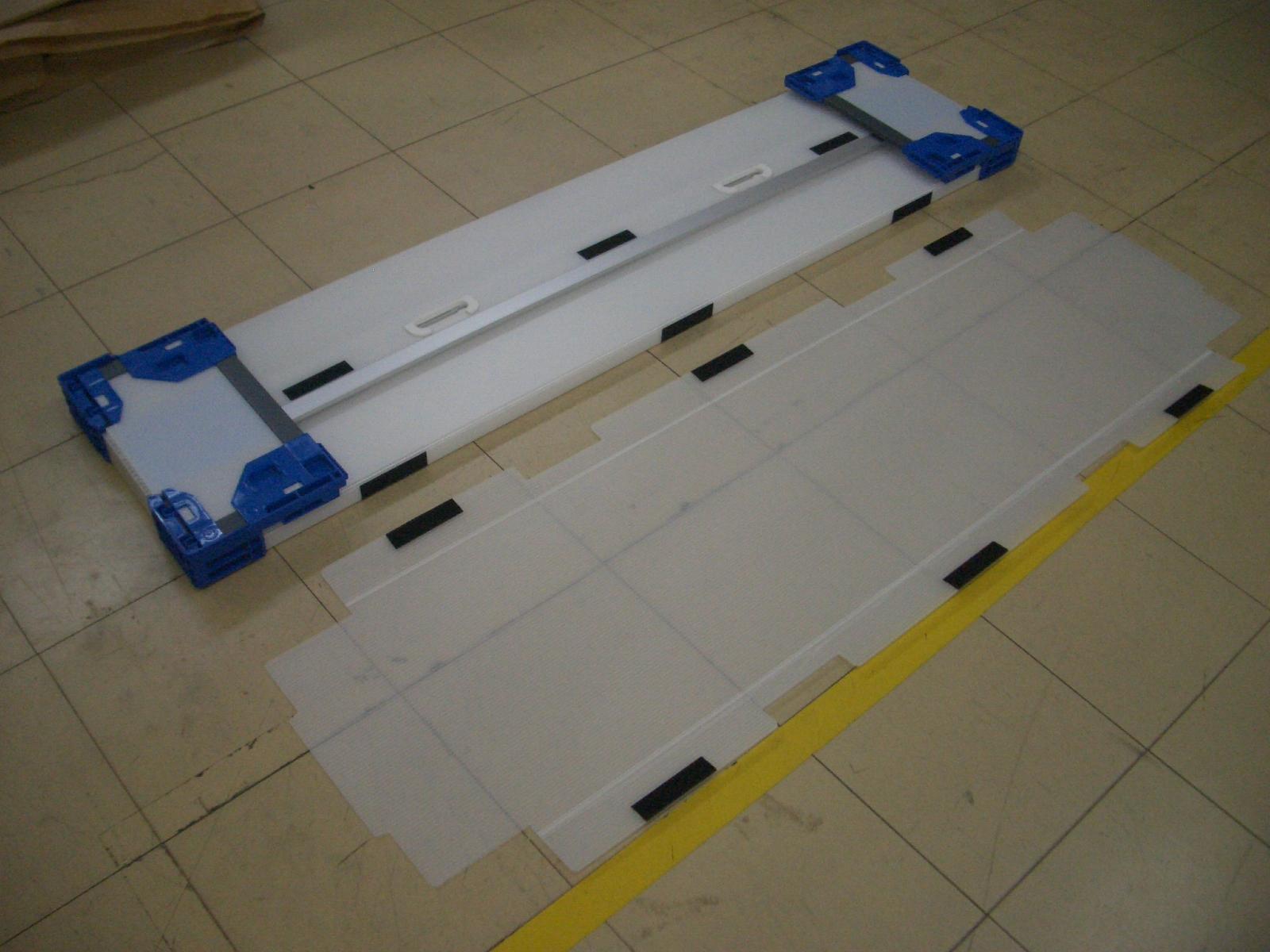 「長尺品輸送箱(折り畳み式)」の画像