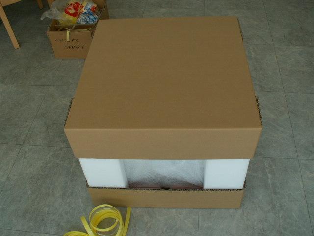 「小型コピー機の梱包・包装 改善実績」の画像